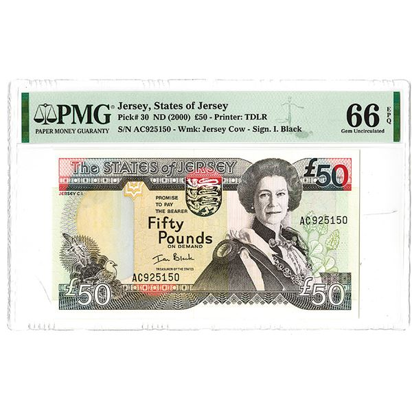 States of Jersey. ND (2000). Issued Banknote.