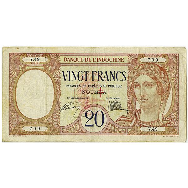 Banque de l'Indochine. ND (ca. 1929) Issue Banknote.