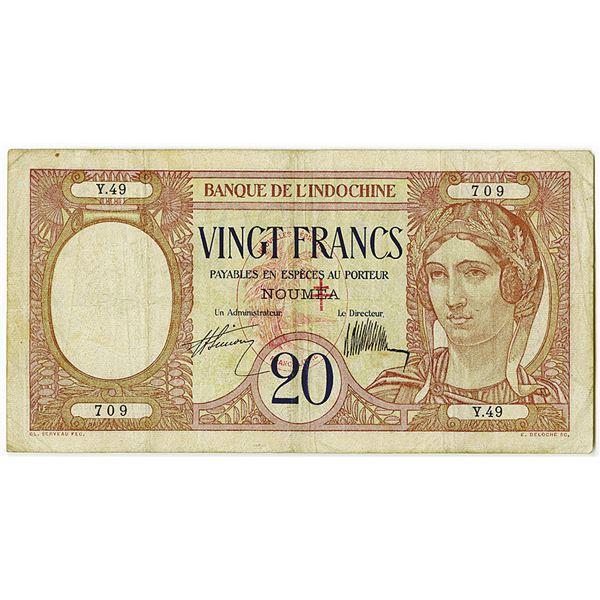 Banque de l'Indochine. ND (ca. 1929) Issue Banknote.