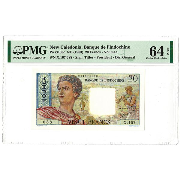 Banque de l'Indochine. ND (1963) Issue Banknote.