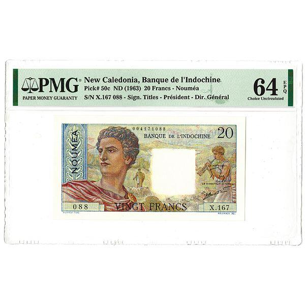 Banque de l'Indochine. ND (1963) Issue Banknote.