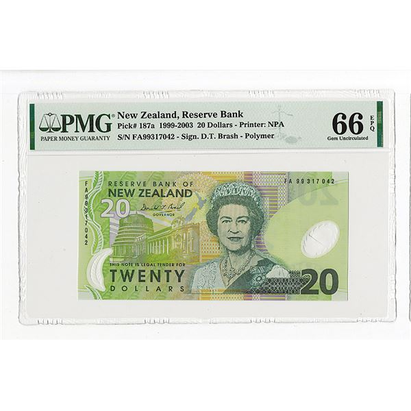 Reserve Bank of New Zealand. 1999 Issue Banknote.