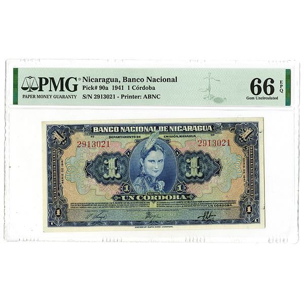 Banco Nacional de Nicaragua. 1941 Issue Banknote.