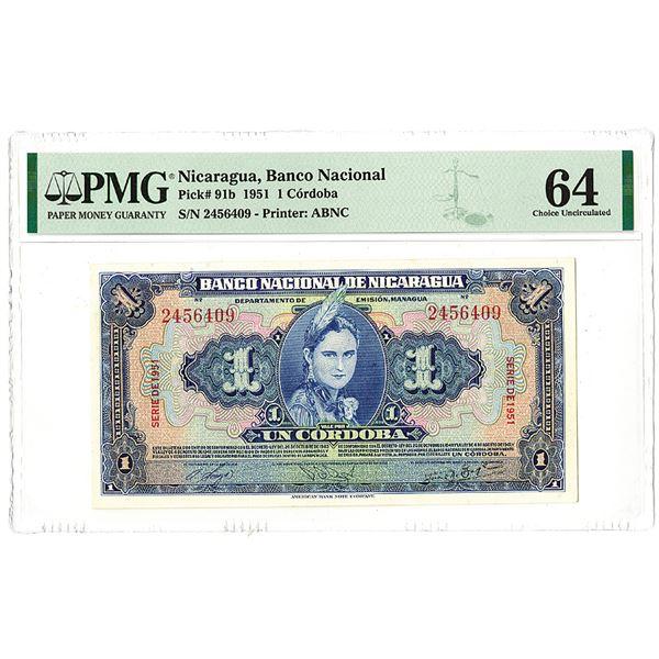 Banco Nacional de Nicaragua. 1951 Issue Banknote.