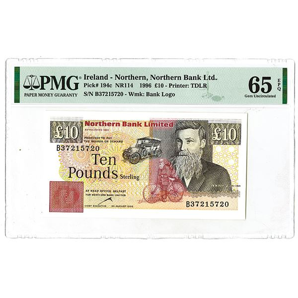 Northern Bank Limited. 1996. Issued Banknote.