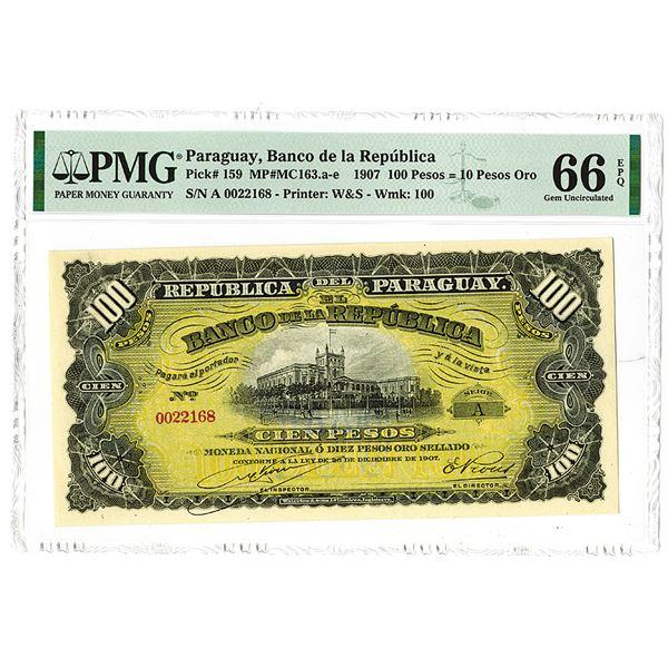 Banco de la Repìblica. 1907 Issue Banknote.