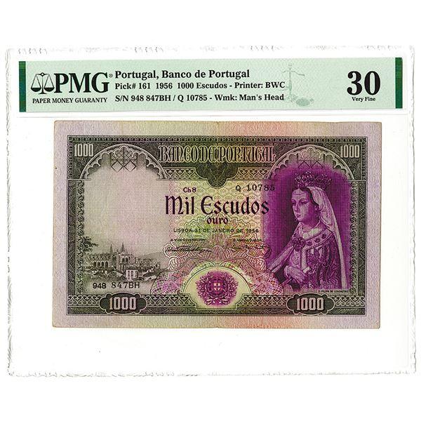 Banco de Portugal, 1956, Issued 1000 Escudos Note.