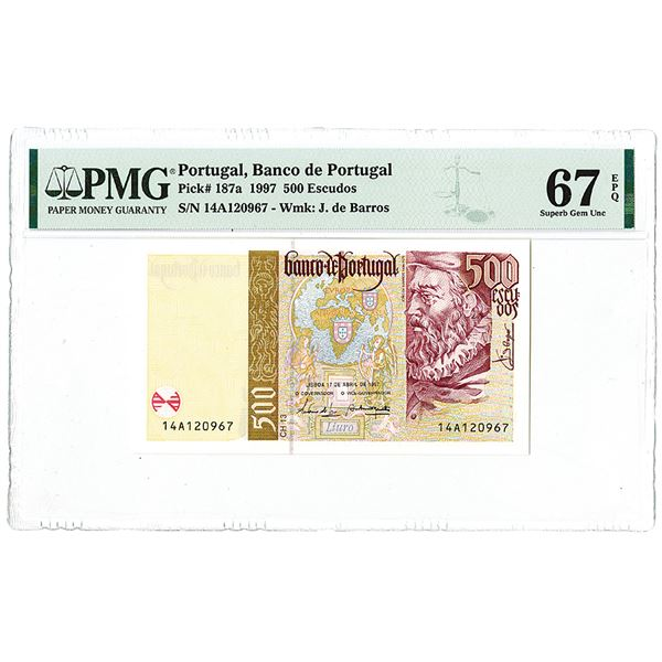 Banco de Portugal. 1997. Issued Note.