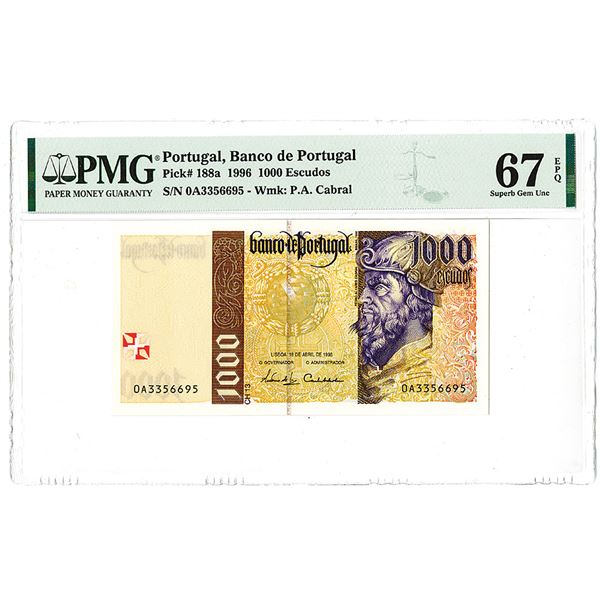 """Banco de Portugal. 1996. """"Top Pop"""" Issued Note."""