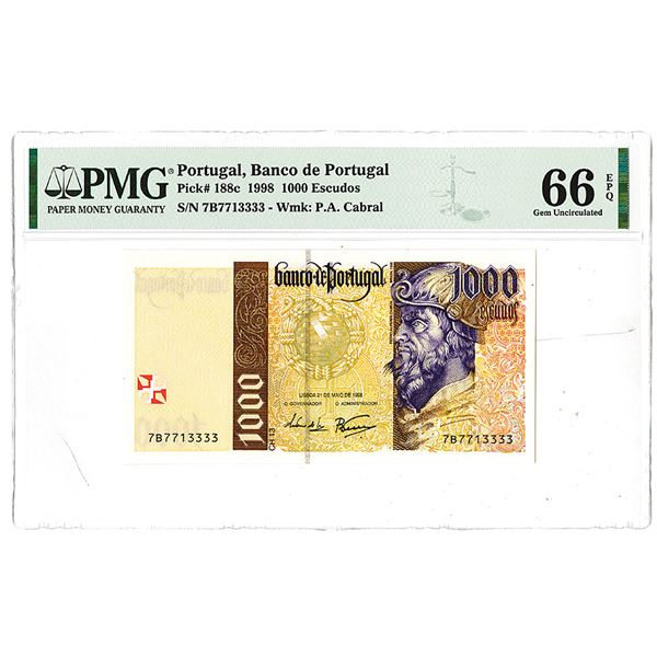 Banco de Portugal. 1998. Issued Note.