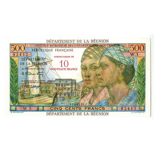 Reunion, Institut d'Emission des Departements d'Outre-Mer. ND (1971) Issue Banknote.