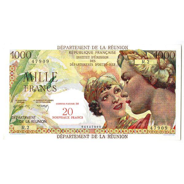 Institut d'Emission des Departements d'Outre-Mer, Department De La Reunion, ND (1971) Issue Banknote