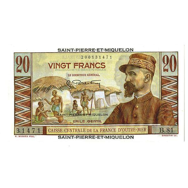 Caisse-Centrale de la France d'Outre-Mer. ND (1950-1960). Issued Note.