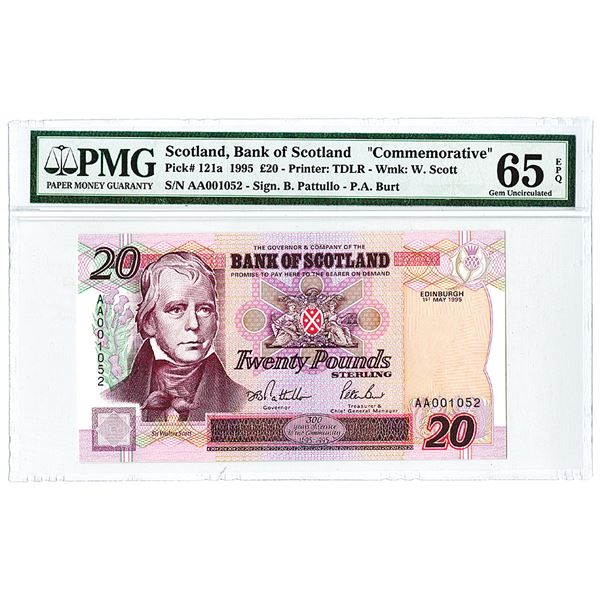 Bank of Scotland Commemorative 20 Pound Issued Banknote