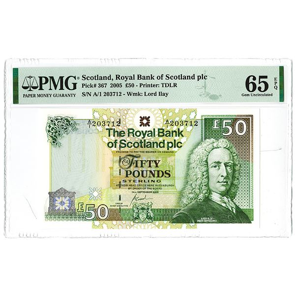 Royal Bank of Scotland. 2005. Issued Banknote.