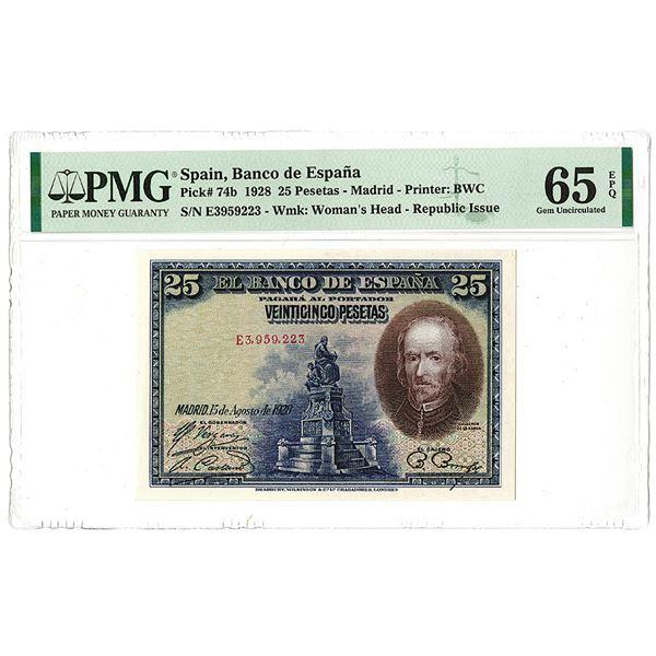 Banco de Espa_a. 1928 Issue Banknote.