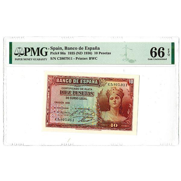 Banco de Espa_a. 1935 (ND 1936) Issue Banknote.