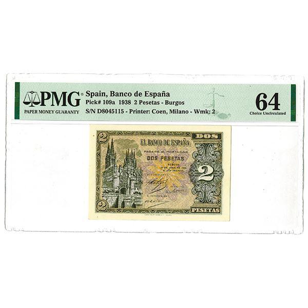 Banco de Espa_a. 1938 Issue Banknote.