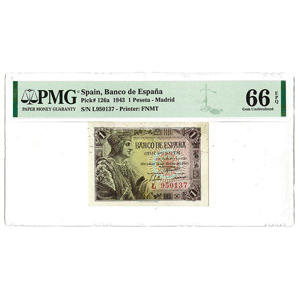 Banco de Espa_a. 1943 Issue Banknote.