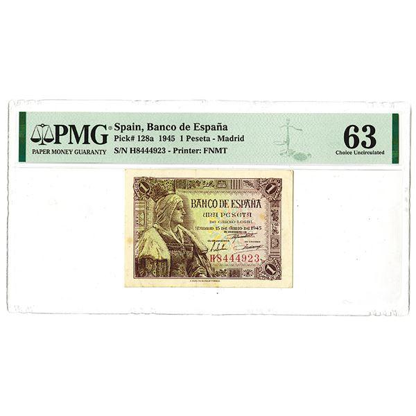 Banco de Espa_a. 1945 Issue Banknote.