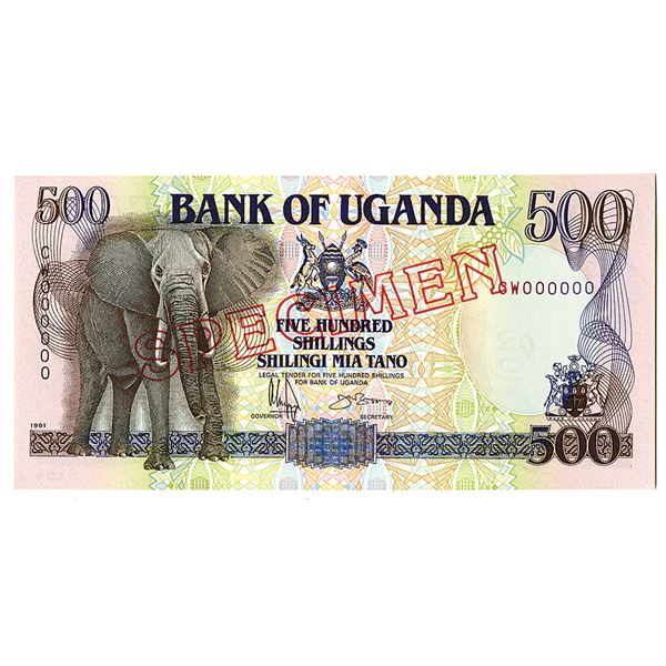 Bank of Uganda. 1991. Specimen Note.
