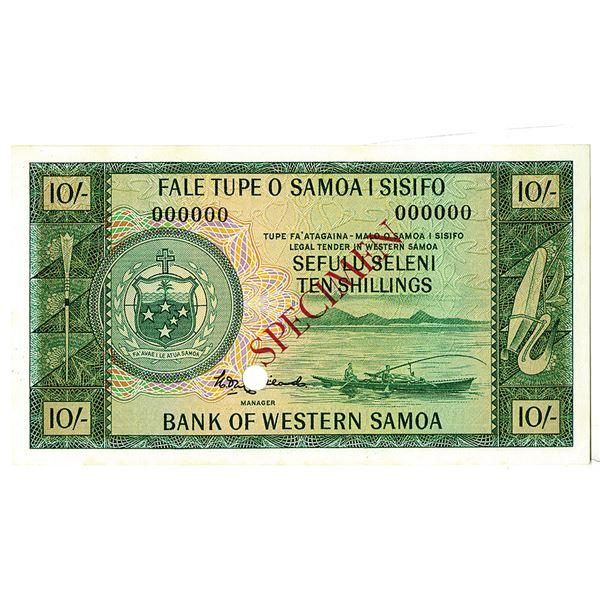 Bank of Western Samoa. ND (1963). Specimen Note.