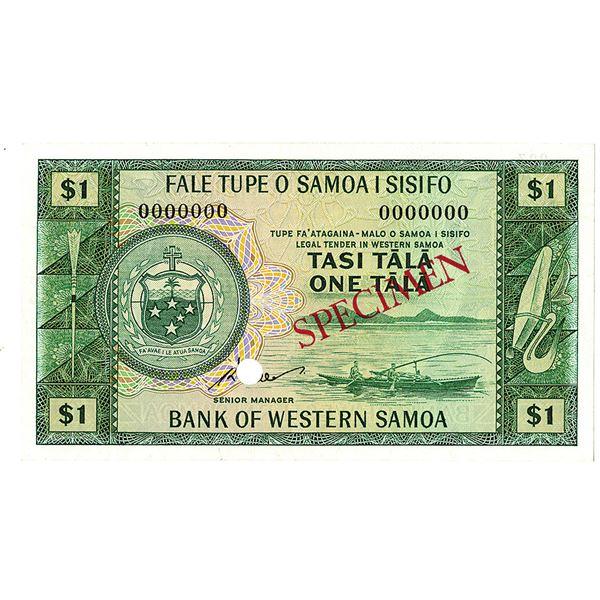 Bank of Western Samoa. ND (1967). Specimen Note.