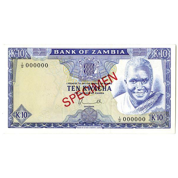 Bank of Zambia. ND (1974). Specimen Note.