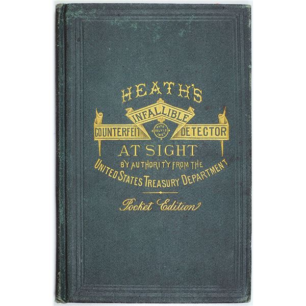 Heath's Infallible Counterfeit Detector, At Sight, 1873 Pocket Edition Booklet