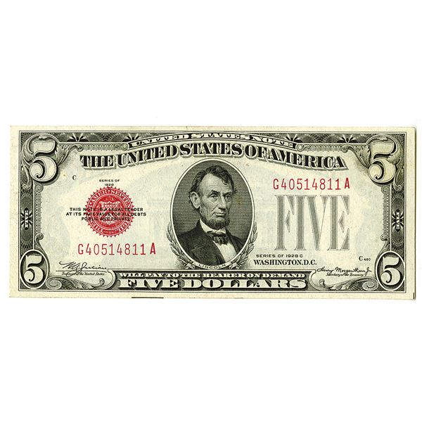 United States Note. Series of 1928C. FR.#1528, Issued Note.