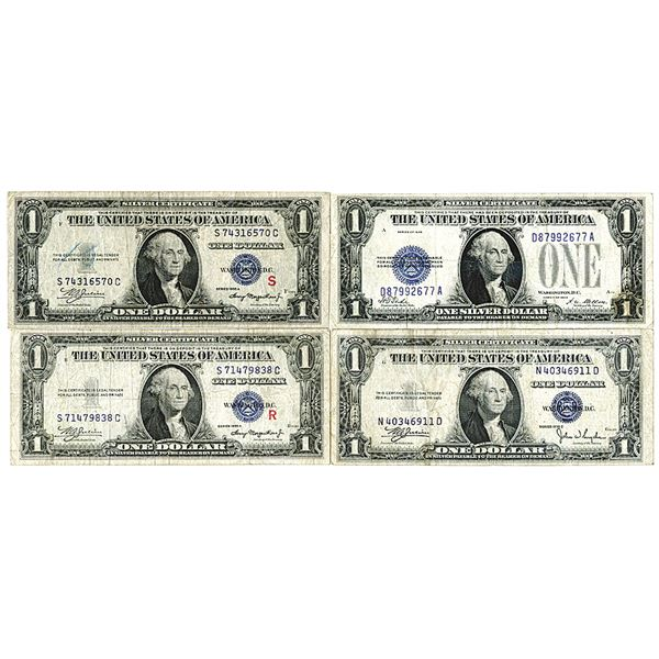 Silver Certificate. 1928-1935. Lot of 4 Issued Notes.