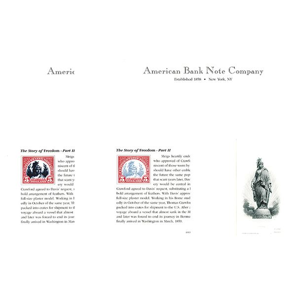 """ABNC Progressive Proof  Trio from """"The Story of Freedom"""" Part II."""