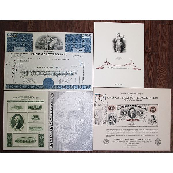 American Bank Note Company Ephemera Group Lot