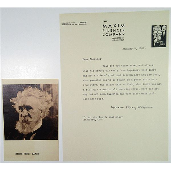 Hiram Percy Maxim Correspondence and Portrait, 1932