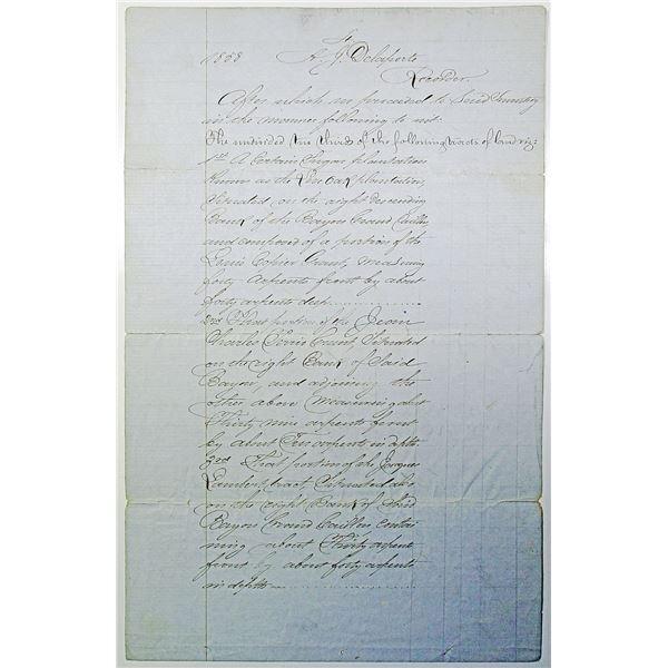 State of Louisiana, Parish of Terrebonne 1858 Estate of John Anthony Quitman