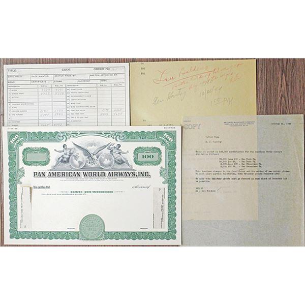 Pan American World Airways, Inc. 1949 Unique Proof Mockup & Order Correspondence Group