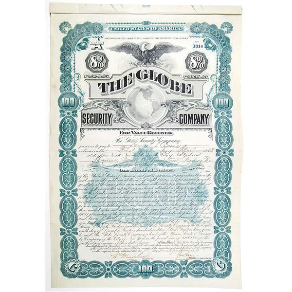 Globe Security Co. 1903 I/U Bond