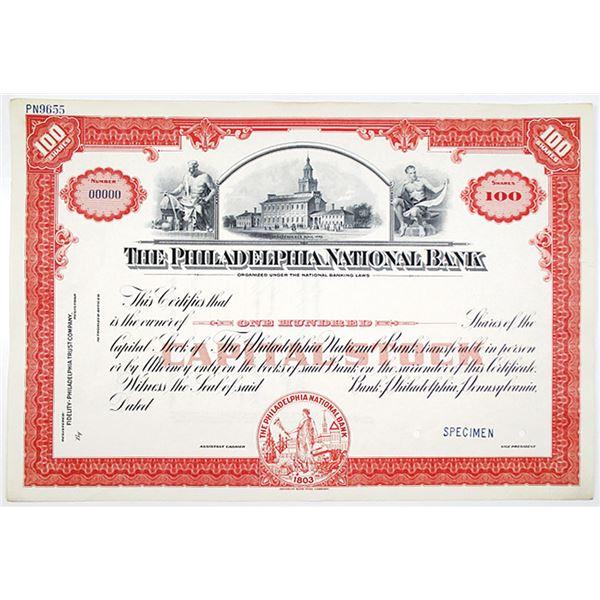 Philadelphia National Bank Specimen Stock Certificate