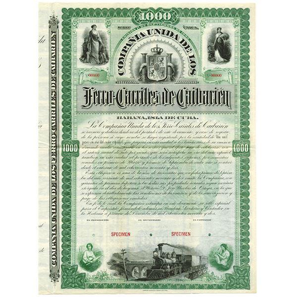 Compania Unida de Los Ferro-Carriles de Caibarien 1892 (United Company of the Caibarien Railways) Sp