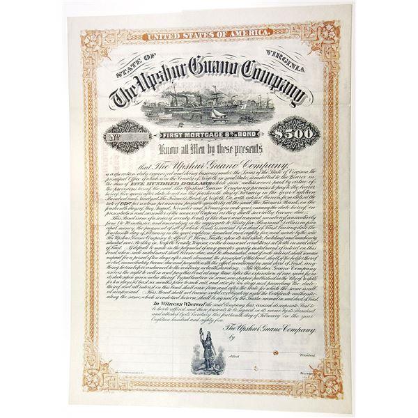 Upshur Guano Co., 1885 Specimen 8% Bond.
