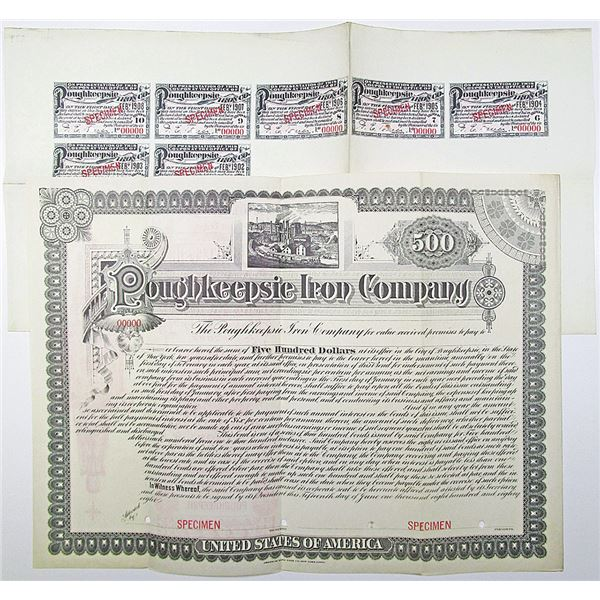 Poughkeepsie Iron Co. 1901 Specimen Bond