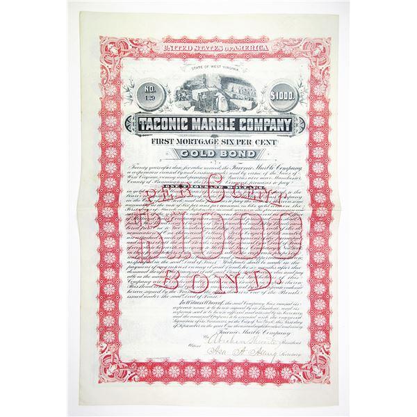 Taconic Marble Co. 1890 I/U Bond