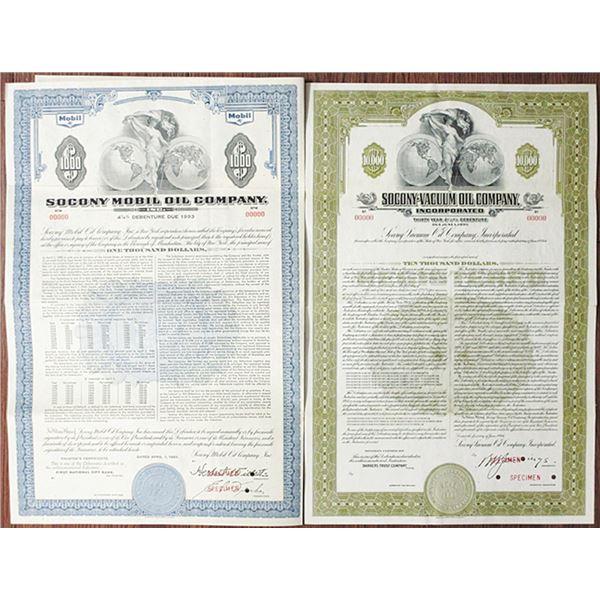 Standard Oil Successor Companies - Socony Mobil Oil Co., Inc. and Socony-Vacuum Oil Co., Inc. Specim