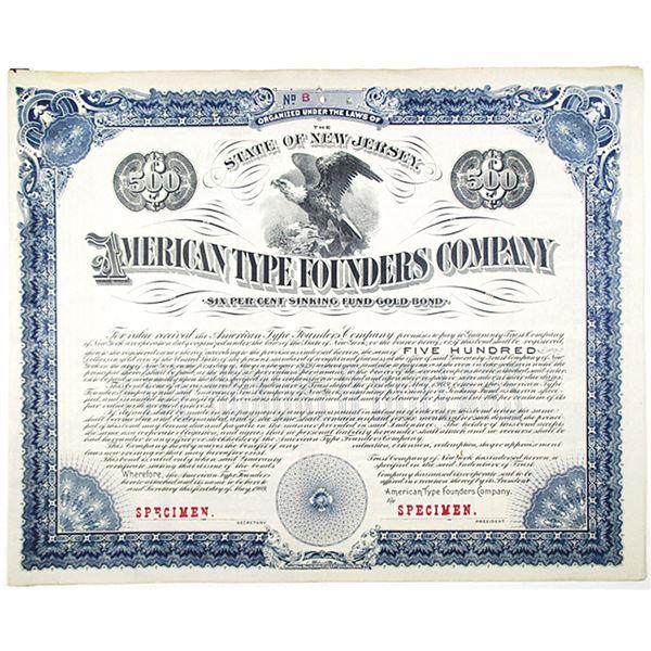 American Type Founders Co. 1909 Specimen Bond
