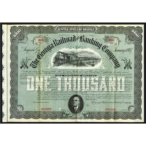 Georgia Railroad and Banking Co., 1907 Specimen Bond