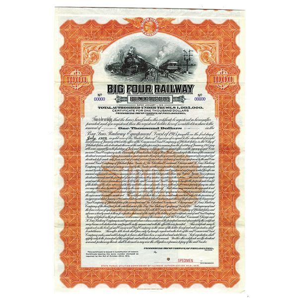 Big Four Railway Equipment Trust of 1915 Specimen Bond
