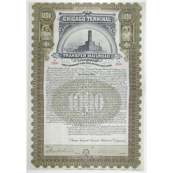 Chicago Terminal Transfer Railroad Co. 1897 I/U Bond