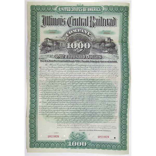 Illinois Central Railroad Co. 1894 Specimen Bond