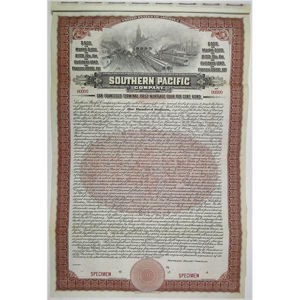 Southern Pacific Co. 1910 Specimen Bond