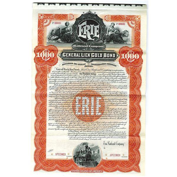 Erie Railroad Co. 1895 Specimen Bond
